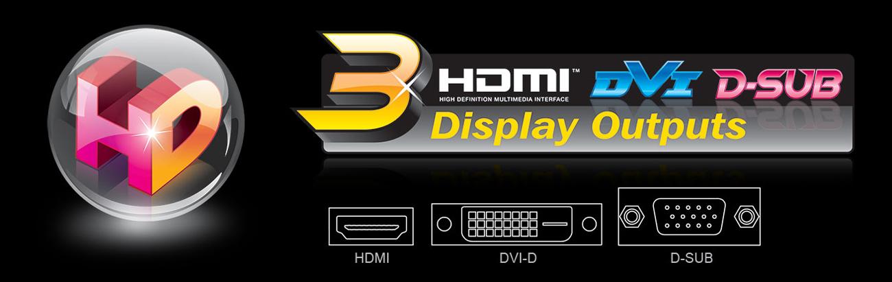 Gigabyte GA-AB350M-HD3 HDMI DVI-D VGA 4K