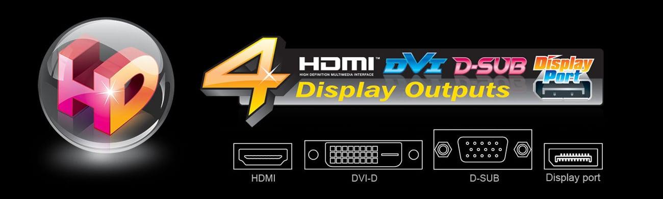 Gigabyte GA-B250M-D3H 4 wyjścia wideo
