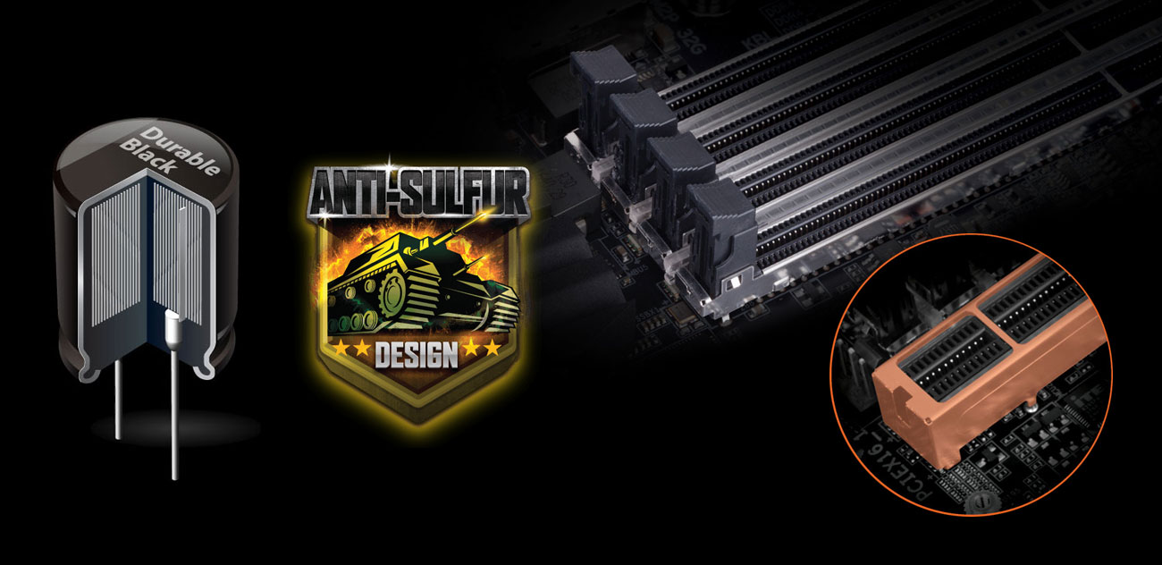 Gigabyte Z370 AORUS Gaming 5 PCIe Armor Anti-Sulfur Durable Black