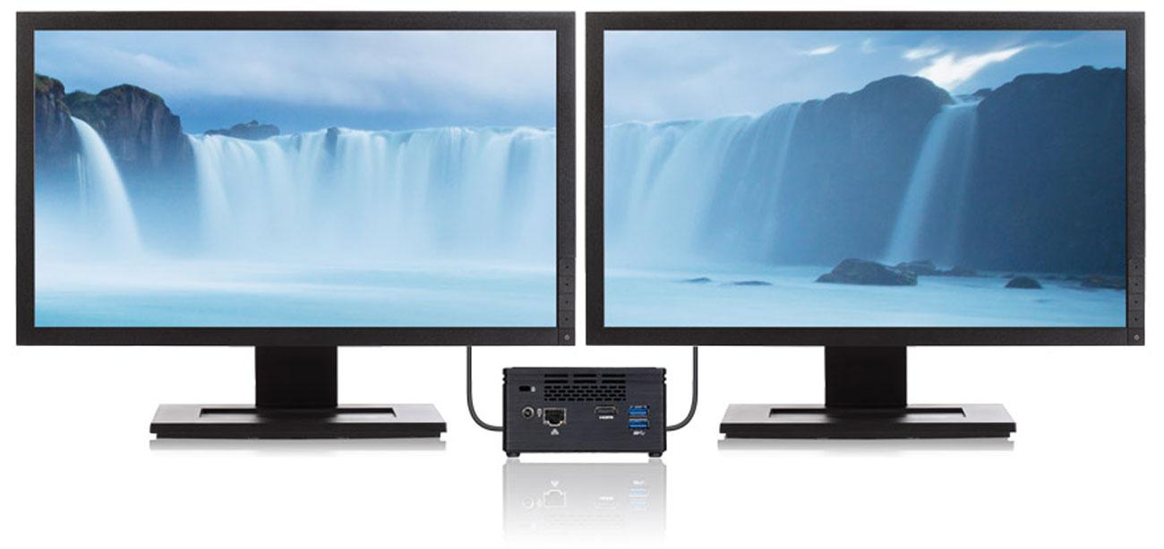 Gigabyte BRIX  J3455 Obsługa Dwóch Monitorów