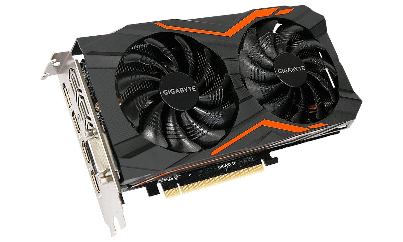 Gigabyte GeForce GTX 1050 Ti G1 Gaming  Widok Z Przodu