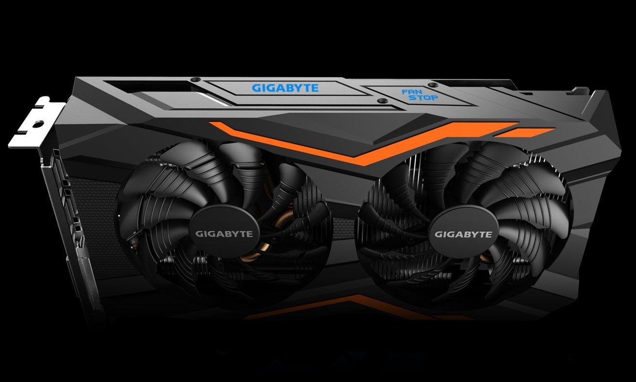 Gigabyte GeForce GTX 1050 Ti G1 Gaming Podświetlenie