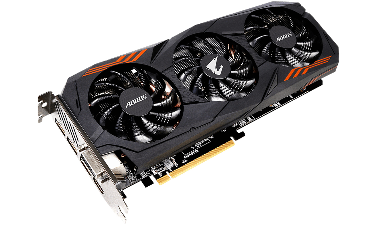 Gigabyte GeForce GTX 1060 Aorus Wielowymiarowe chłodzenie