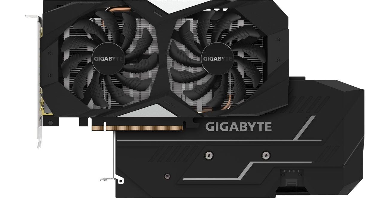 Gigabyte GeForce GTX 1660 OC Chłodzenie, backplate