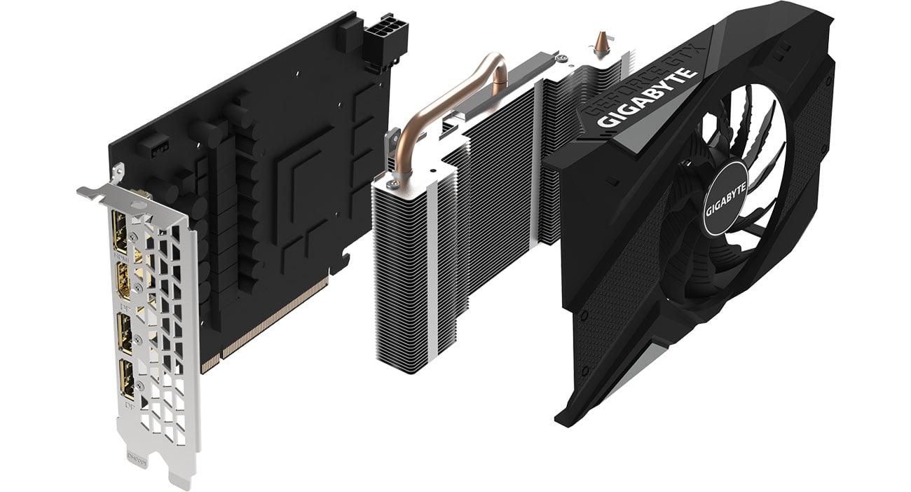 Gigabyte GeForce GTX 1660 Ti MINI ITX OC Chłodzenie