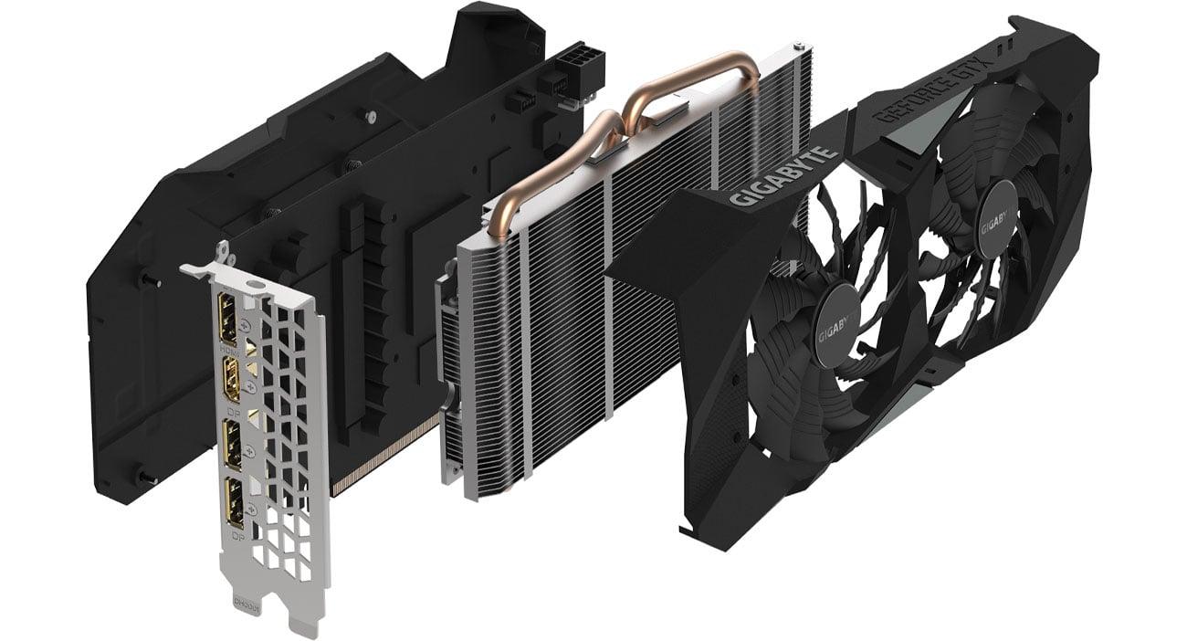 Gigabyte GeForce GTX 1660 Ti WINDFORCE OC Chłodzenie