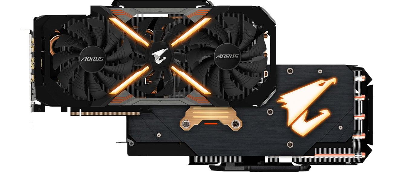 Gigabyte GeForce RTX 2060 XTREME AORUS Przód, tył