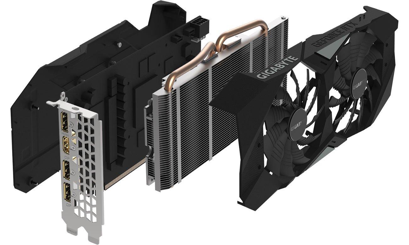 Gigabyte GeForce RTX 2060 WINDFORCE OC v2.0 Układ chłodzenia