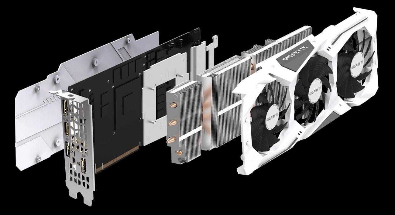 Gigabyte GeForce RTX 2060 SUPER GAMING OC 3X WHITE - Chłodzenie Windforce 3X