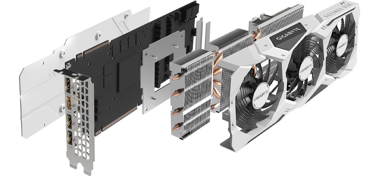 Gigabyte GeForce RTX 2070 SUPER GAMING OC WHITE 3X - Chłodzenie