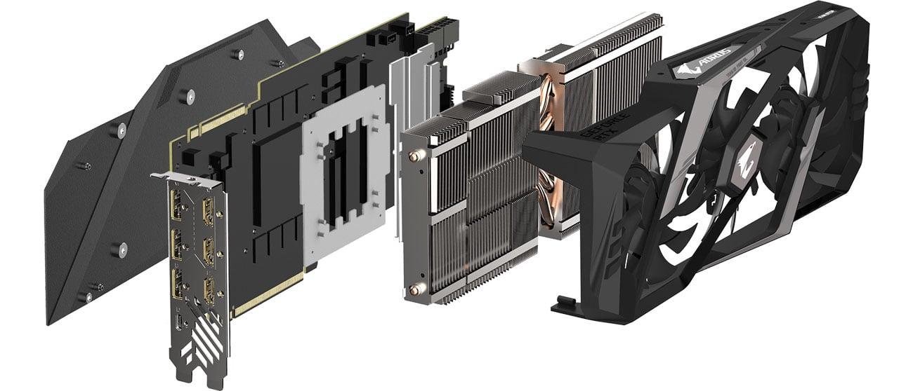 Gigabyte GeForce RTX 2080 AORUS XTREME Chłodzenie WINDFORCE