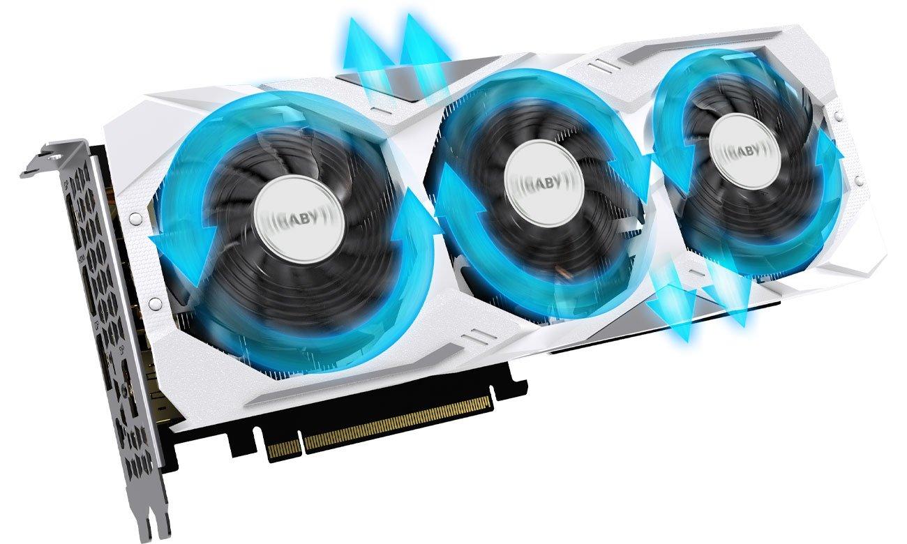 Gigabyte GeForce RTX 2080 GAMING OC White Trzy wentylatory