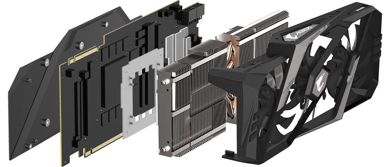 Gigabyte GeForce RTX 2080 Ti AORUS Chłodzenie WINDFORCE
