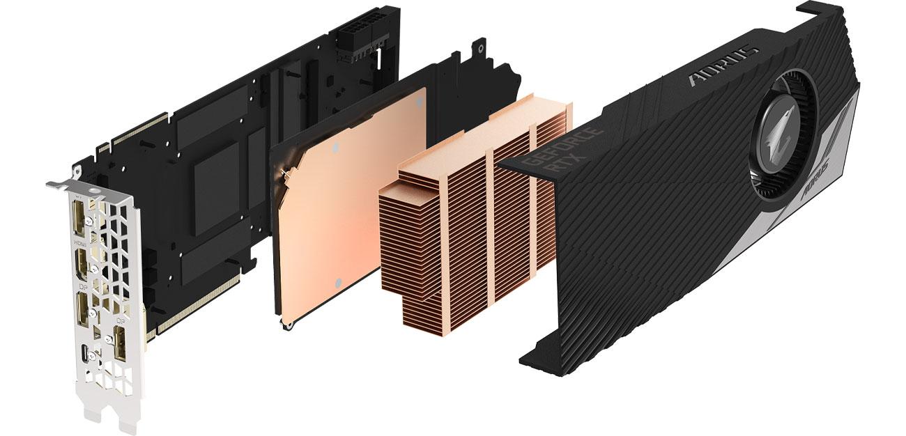 AORUS GeForce RTX 2080 Ti TURBO Chłodzenie Turbo