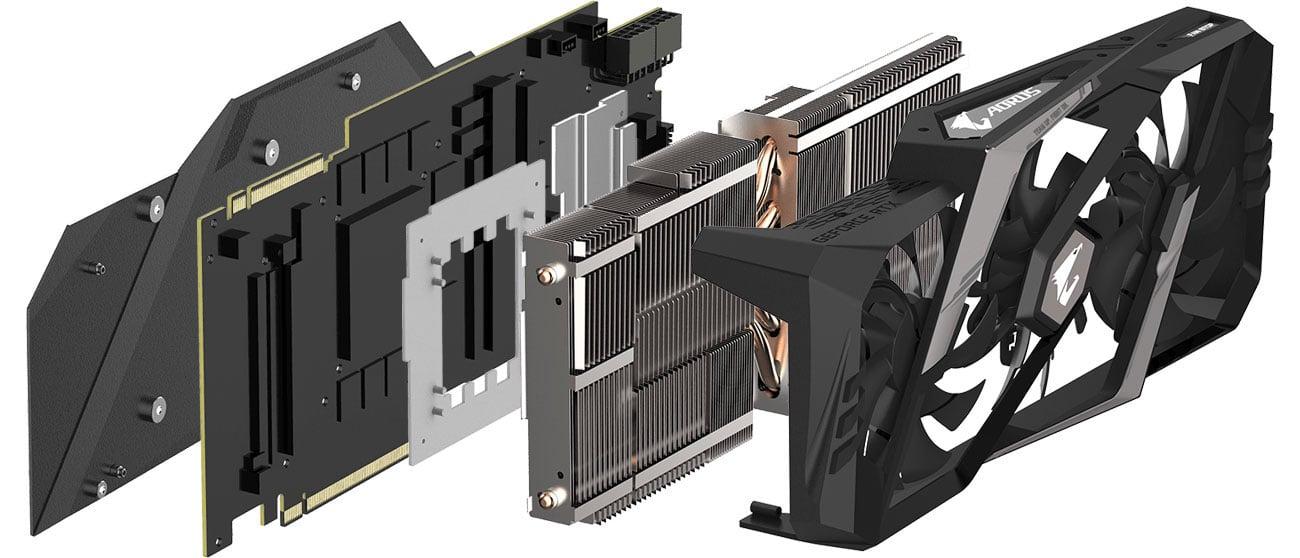 Gigabyte GeForce RTX 2080 Ti AORUS XTREME Chłodzenie WINDFORCE