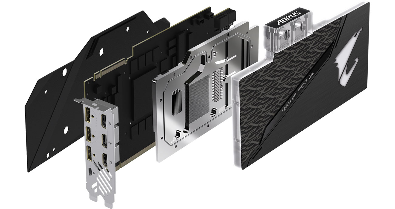 Gigabyte GeForce RTX 2080 Ti AORUS XTREME WF WB Chłodzenie