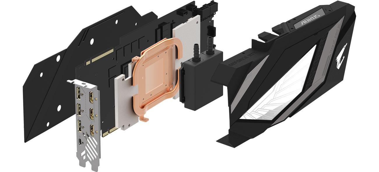 AORUS GeForce RTX 2080 Ti XTREME WATERFORCE Chłodzenie