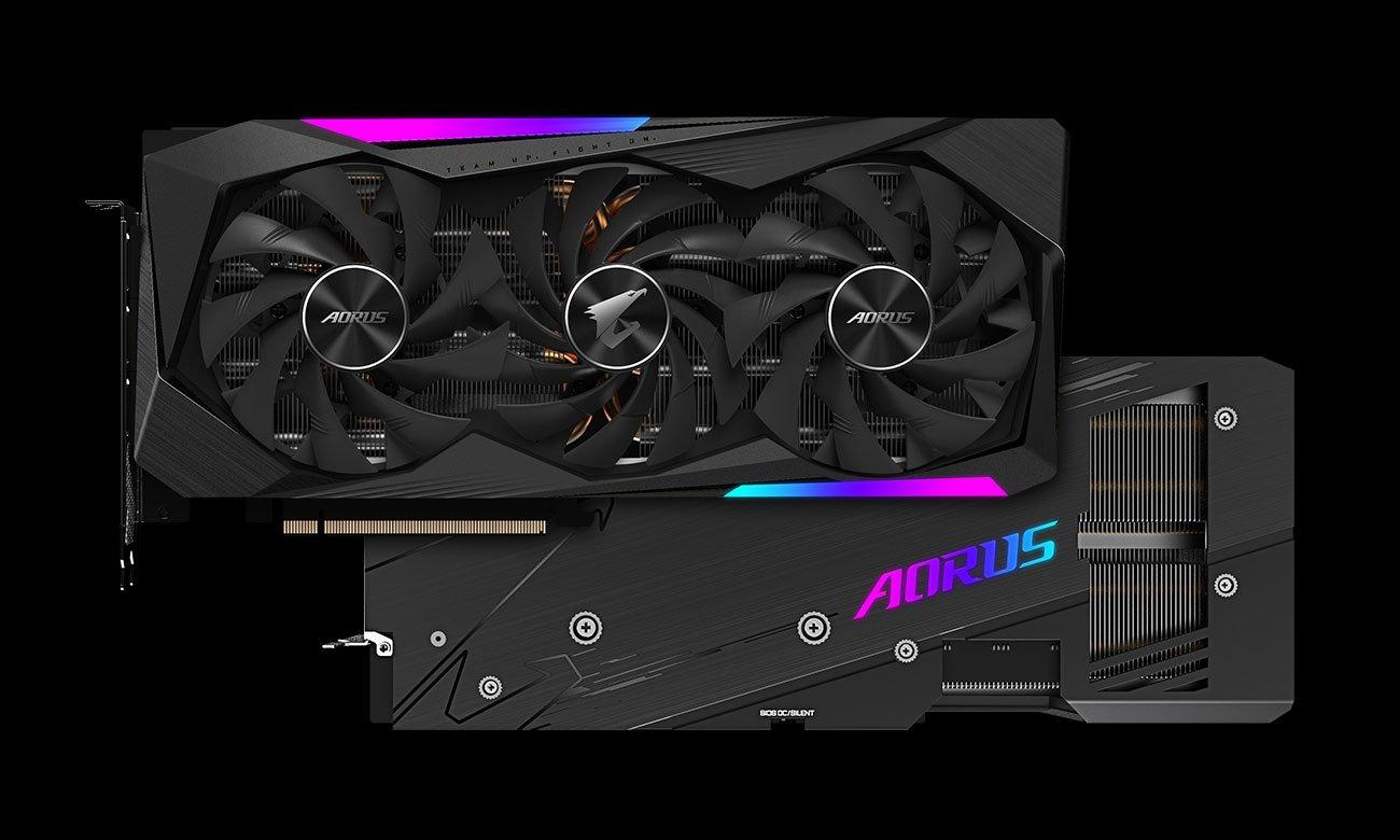 Gigabyte GeForce RTX 3070 AORUS MASTER LHR Chłodzenie