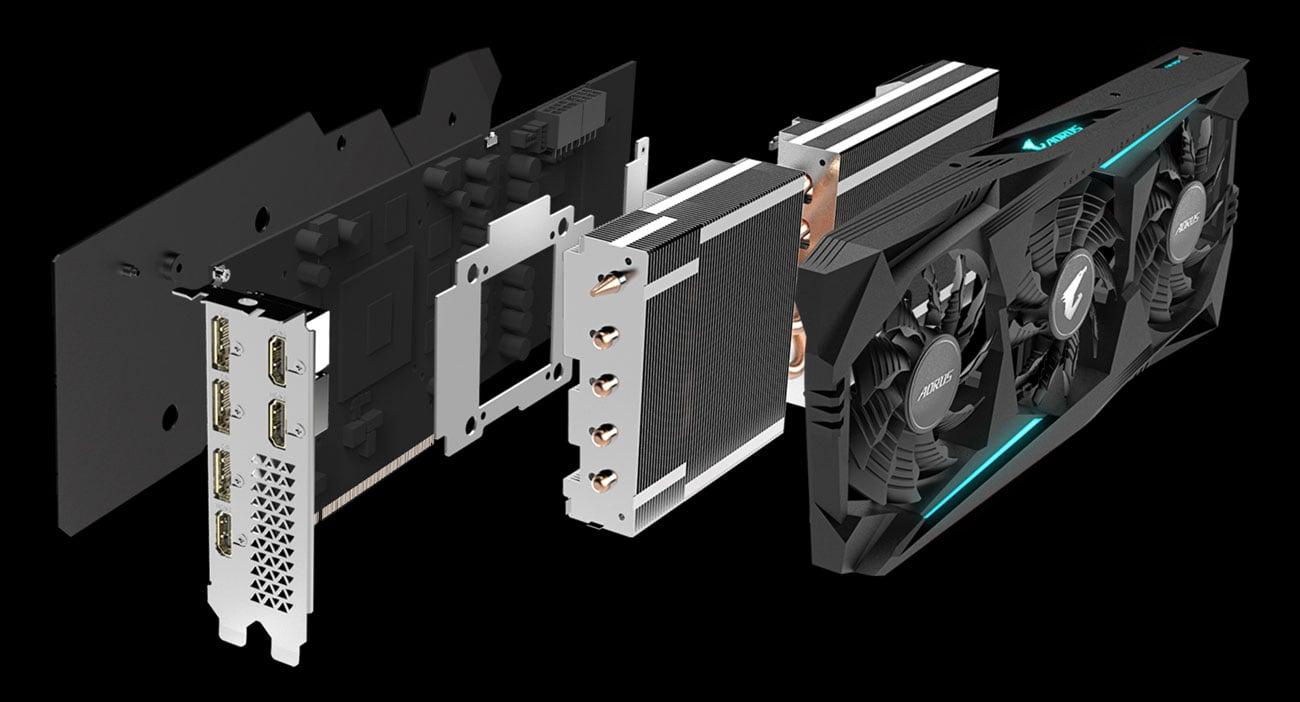 Gigabyte Radeon RX 5700 XT AORUS - Chłodzenie