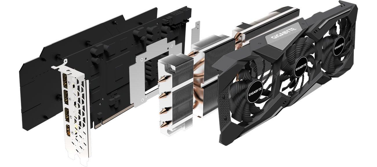 Gigabyte Radeon RX 5700 XT Gaming OC - Układ chłodzenia