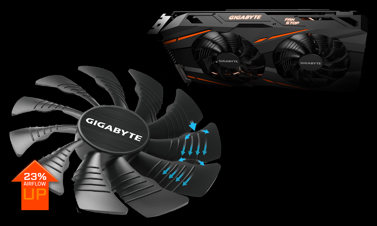 Gigabyte Radeon RX 570 GAMING 4GB GDDR5 chłodzenie