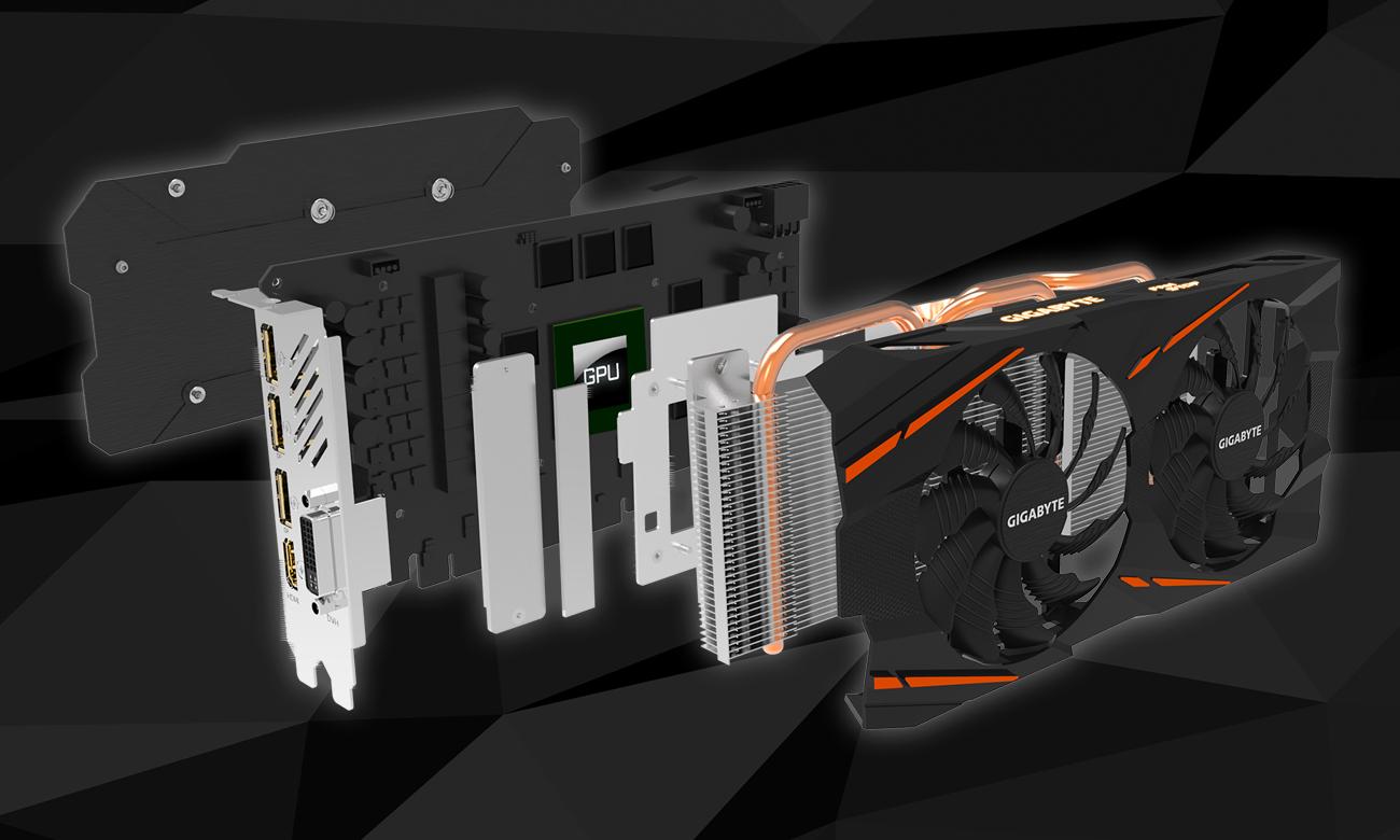 Gigabyte Radeon RX 570 GAMING 4GB GDDR5 komponenty