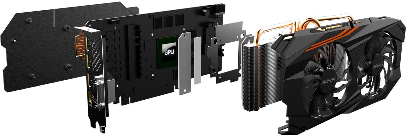 Gigabyte Radeon RX 580 Aorus Chłodzenie