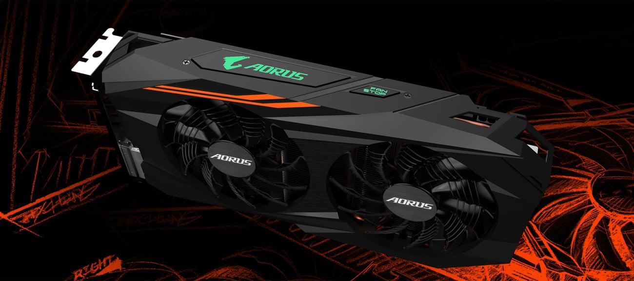 Gigabyte Radeon RX 580 Aorus Podświetlenie