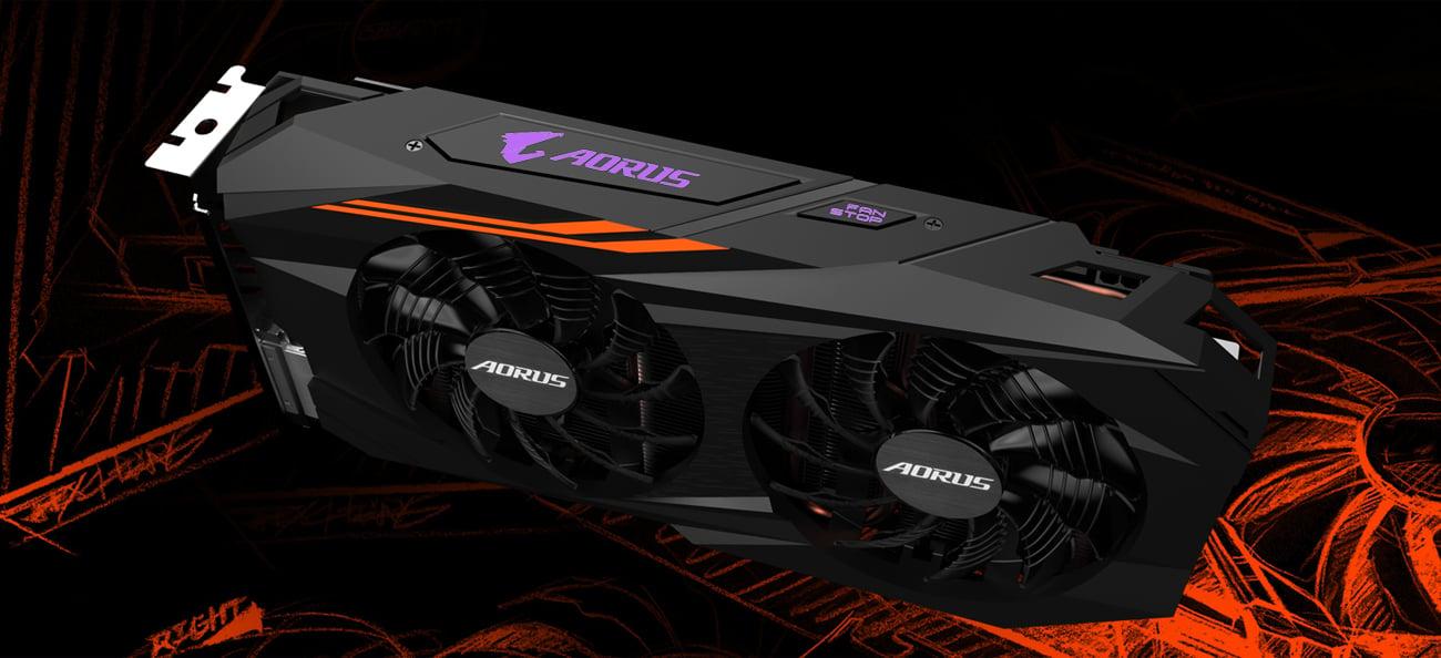 Gigabyte Radeon RX 580 AORUS Podświetlenie LED