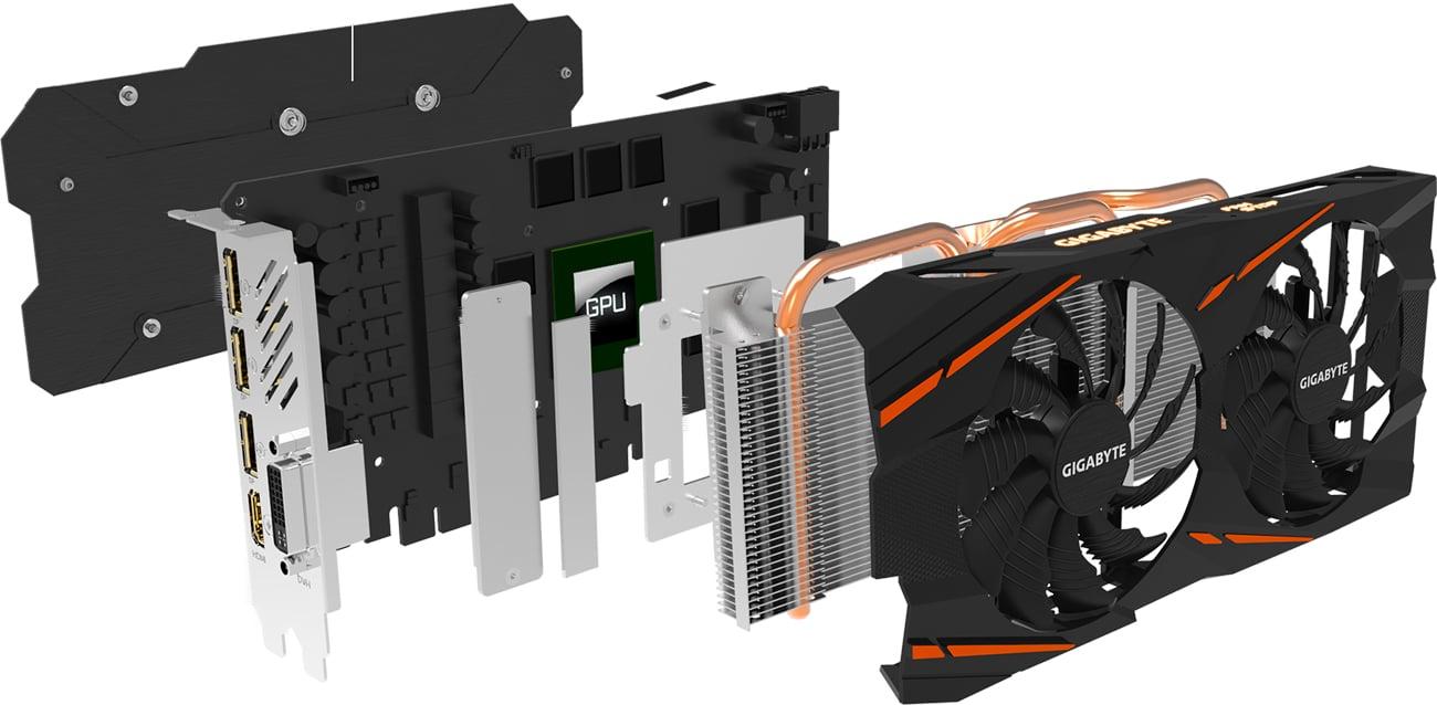 Gigabyte Radeon RX 580 GAMING Chłodzenie