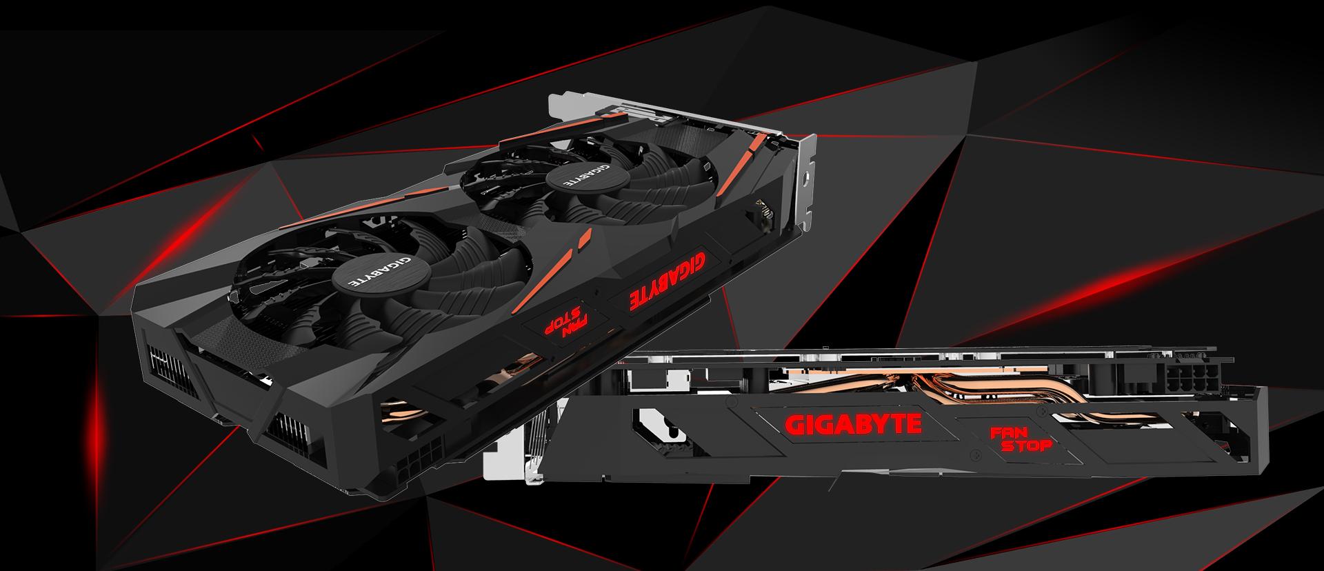 Gigabyte Radeon RX 580 GAMING 8GB GDDR5 podświetlenie LED