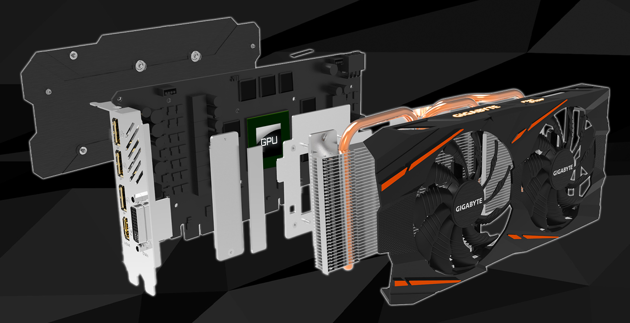 Gigabyte Radeon RX 580 GAMING 8GB GDDR5 komponenty