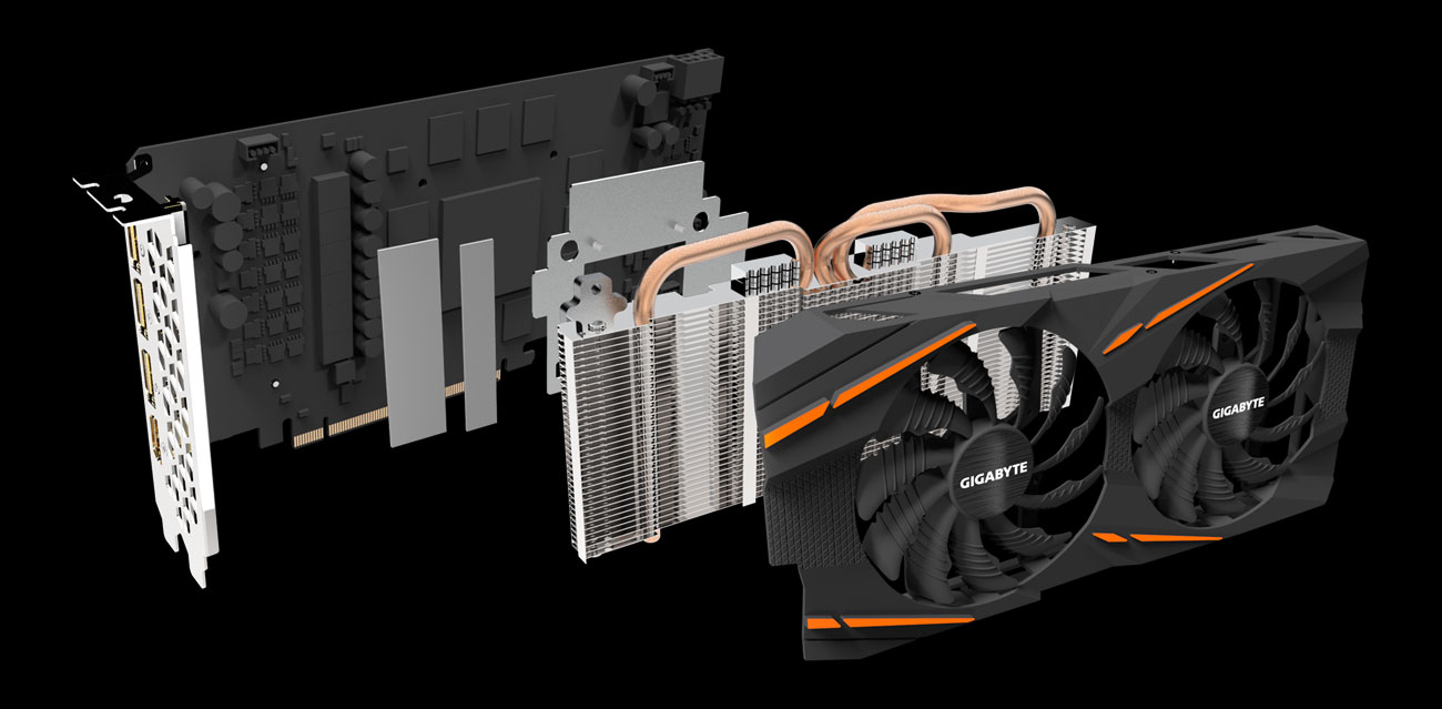 Gigabyte Radeon RX 590 GAMING - Chłodzenie Windforce 2X