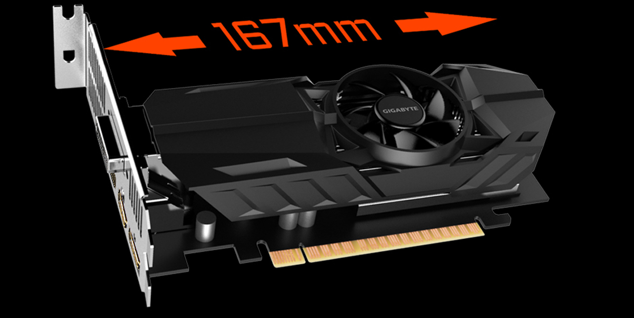 Gigabyte GeForce GTX 1050Ti OC LP 4GB GDDR5