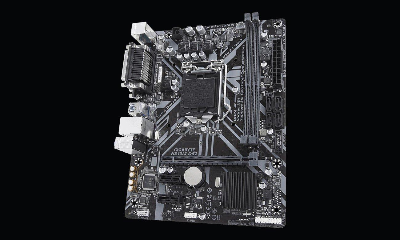 Gigabyte H310M DS2 Złącza SATA i USB