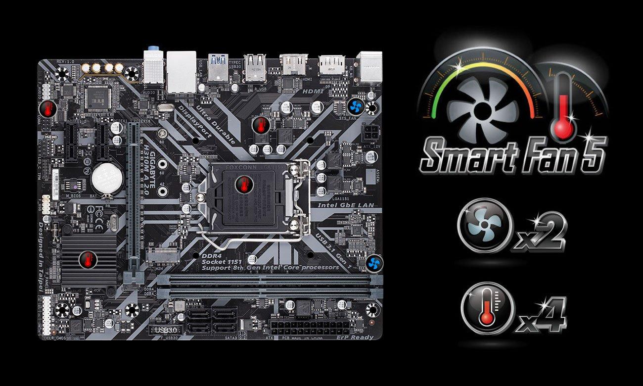 Gigabyte H310M A 2.0 - Smart Fan 5