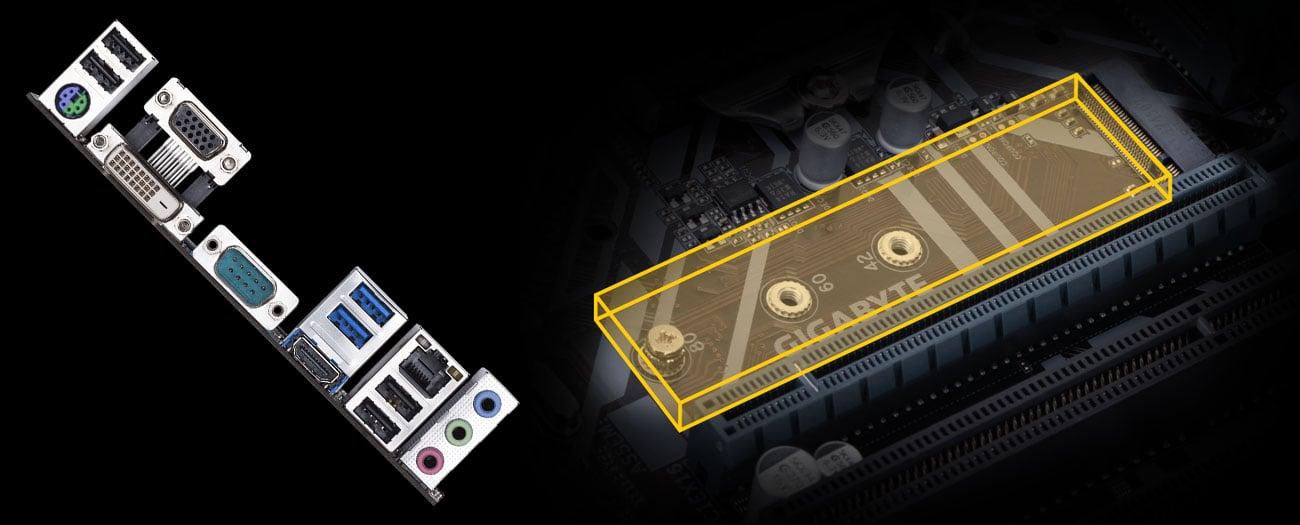 Gigabyte H310M S2P 2.0 - Złącze USB, M.2