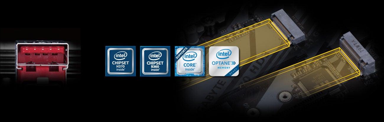 Gigabyte H370 HD3 Złącza PCIe M.2 i USB 3.1 Gen2