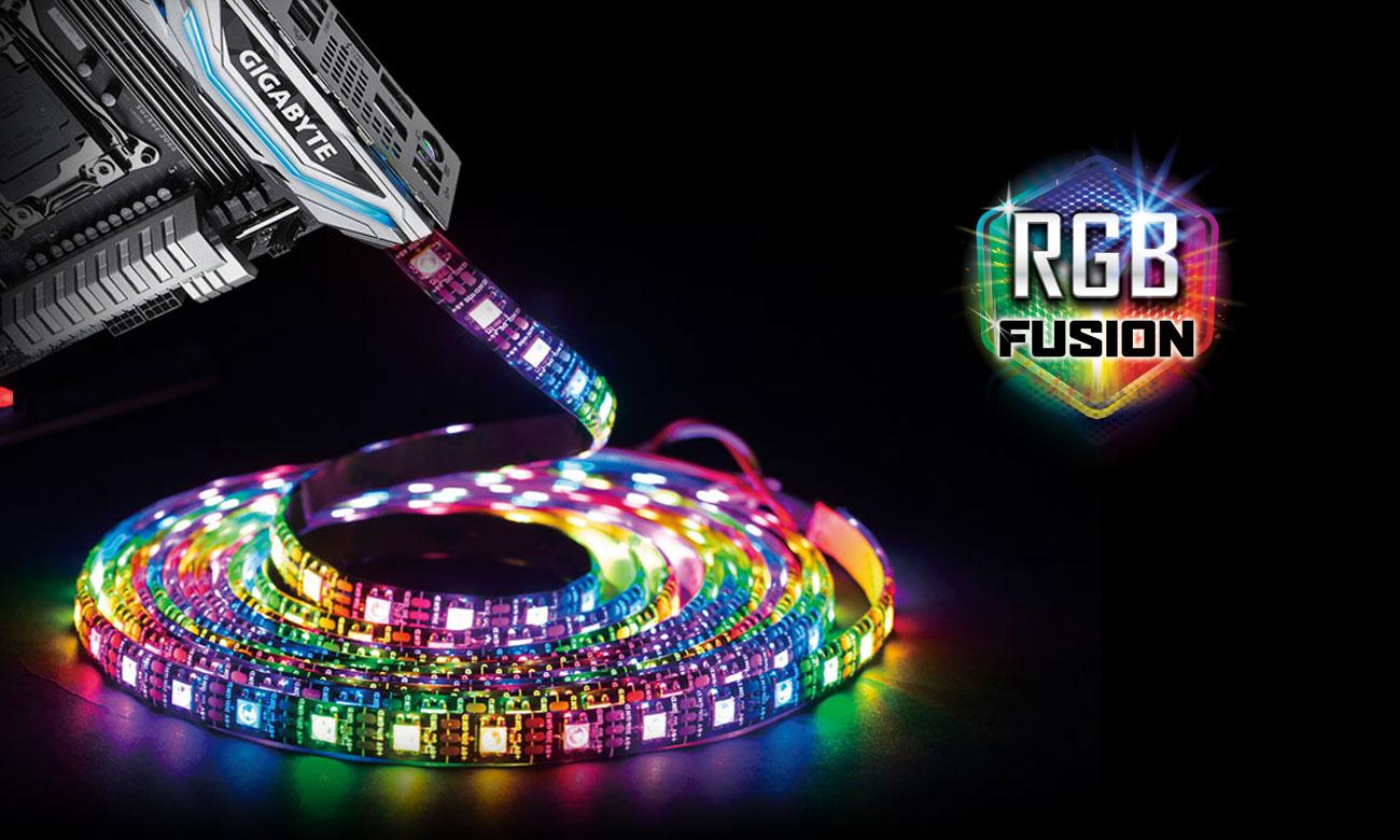 Gigabyte X299 DESIGNARE EX Podświetlenie RGB Fusion