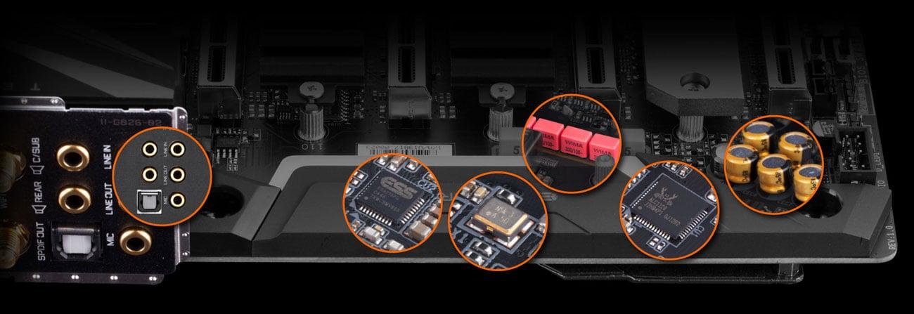 Gigabyte X299X AORUS MASTER - Audio