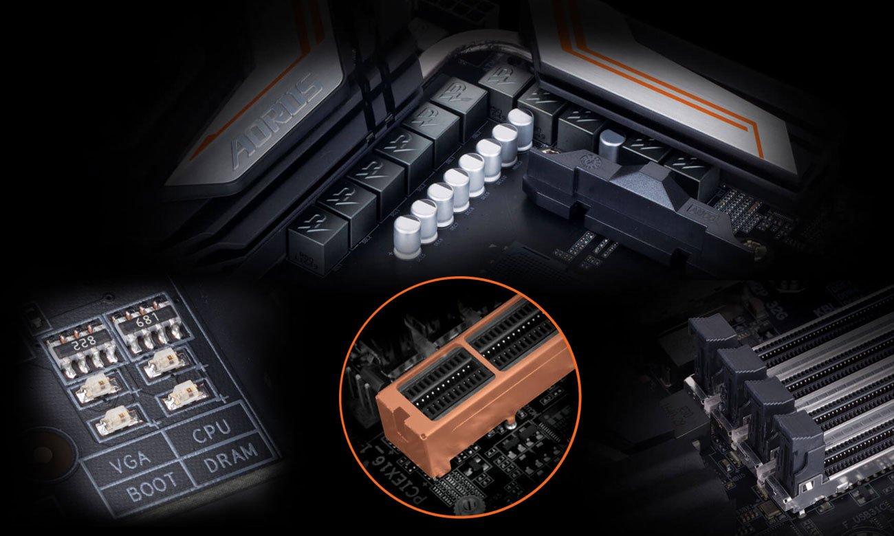 Gigabyte X470 AORUS GAMING 5 WIFI Bezpieczeństwo wytrzymałość