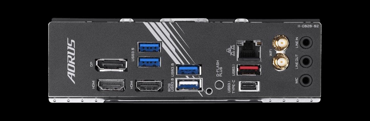 Gigabyte X570 I AORUS PRO WIFI - Złącza USB