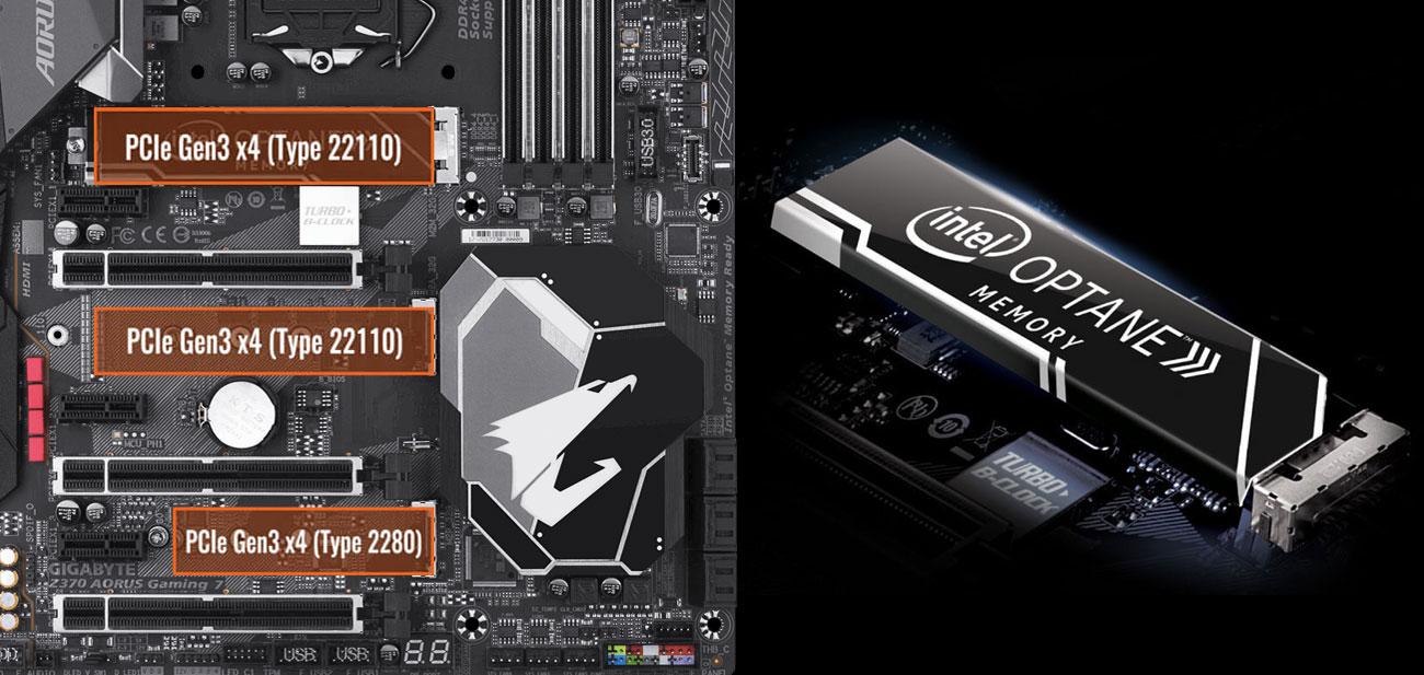 Gigabyte Z370 Aorus Gaming 7-OP PCIe Gen3 x4 M.2 Intel Optane