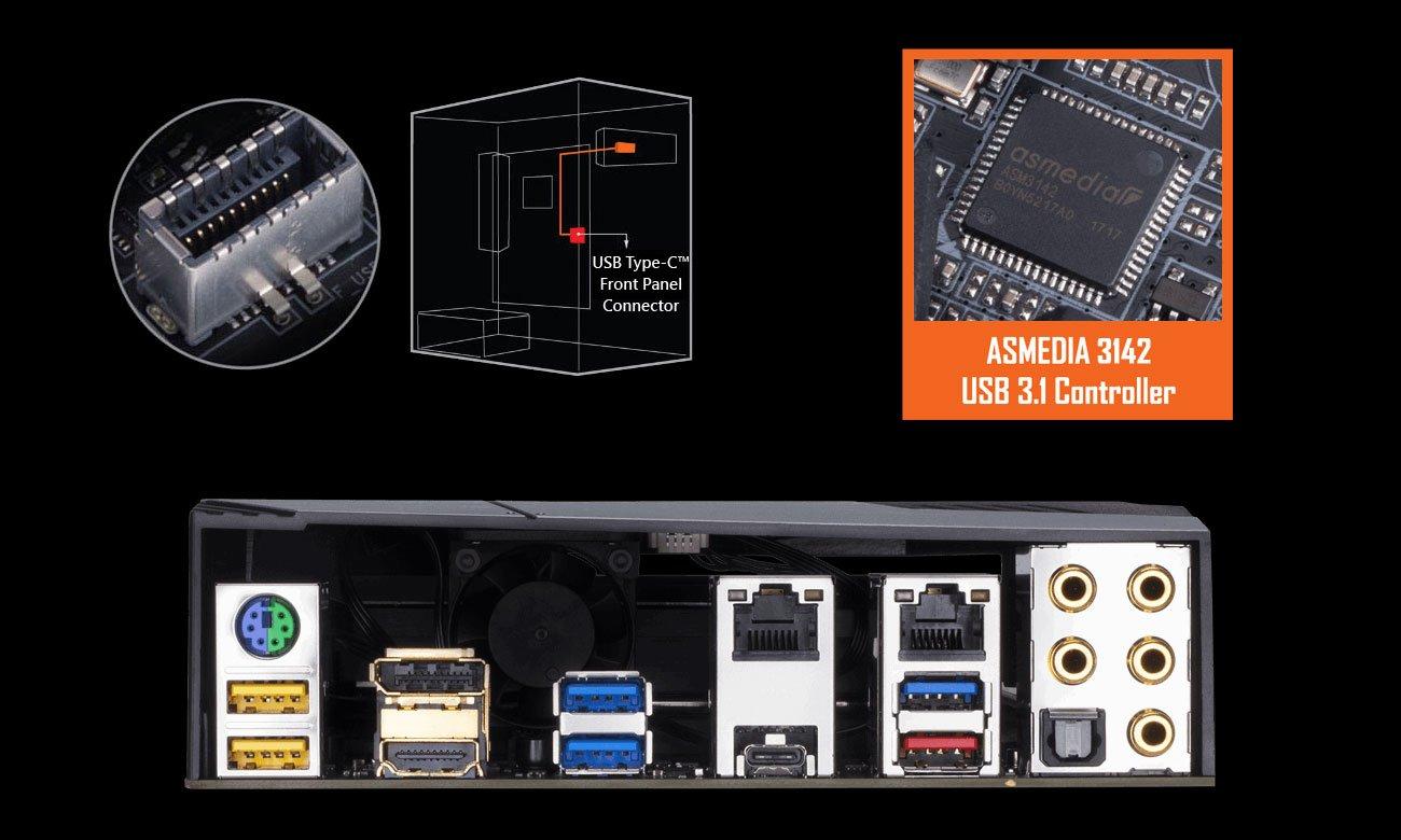 Gigabyte Z370 Aorus Gaming 7-OP  Porty USB 3.1 Gen2