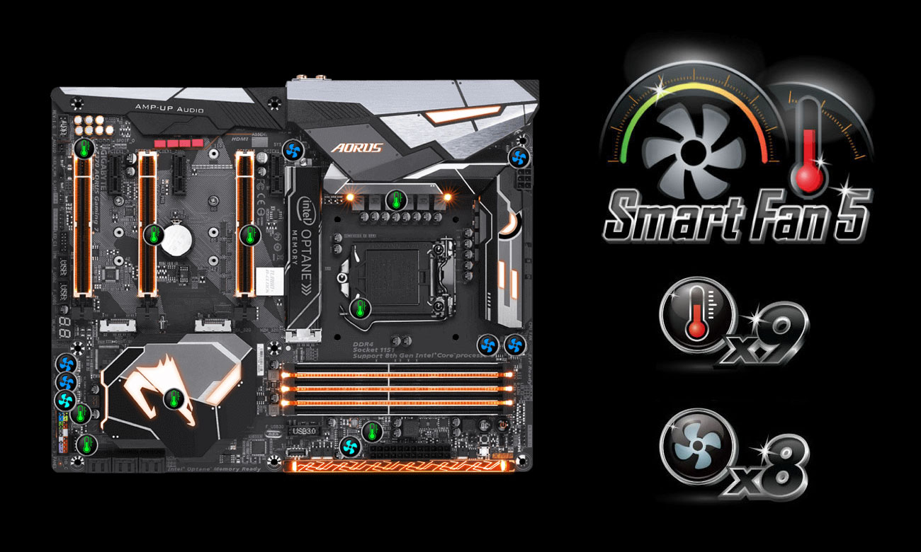 Gigabyte Z370 Aorus Gaming 7-OP Smart Fan 5