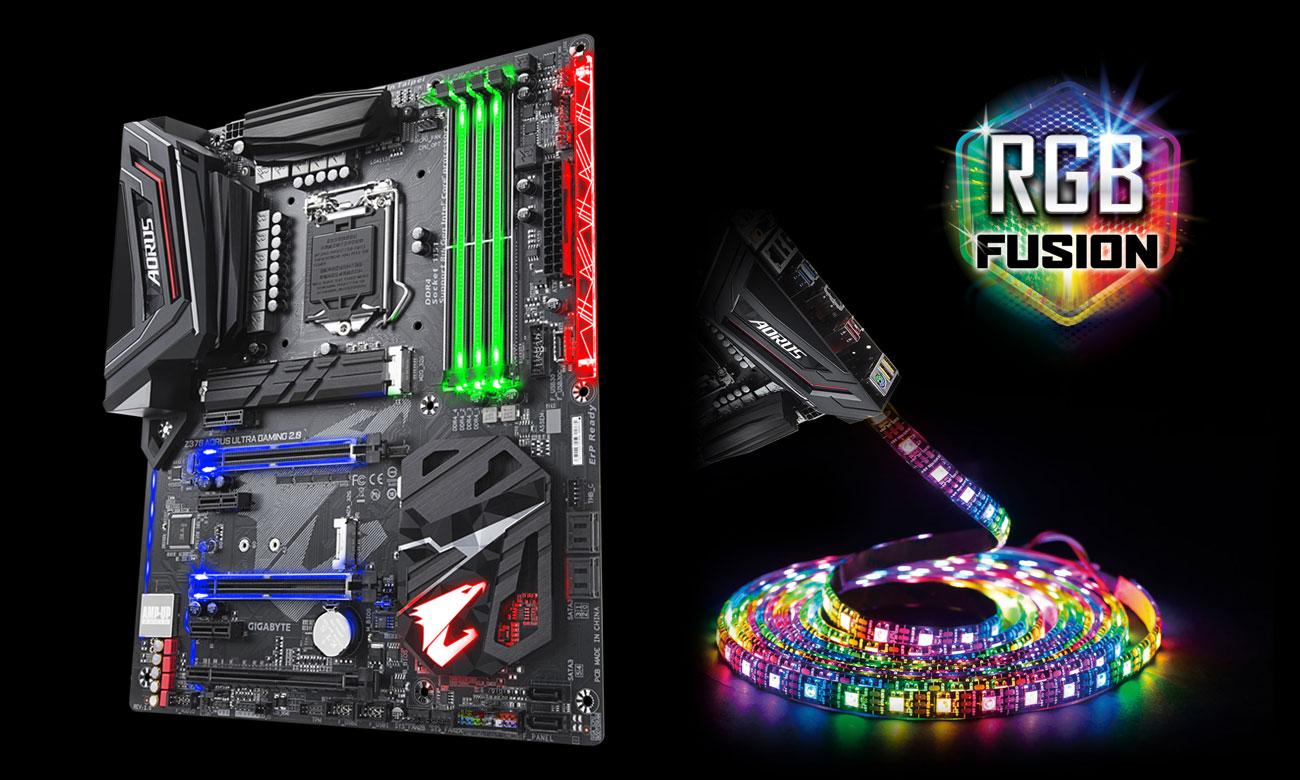 Gigabyte Z370 AORUS ULTRA GAMING 2.0 Podświetlenie RGB Fusion