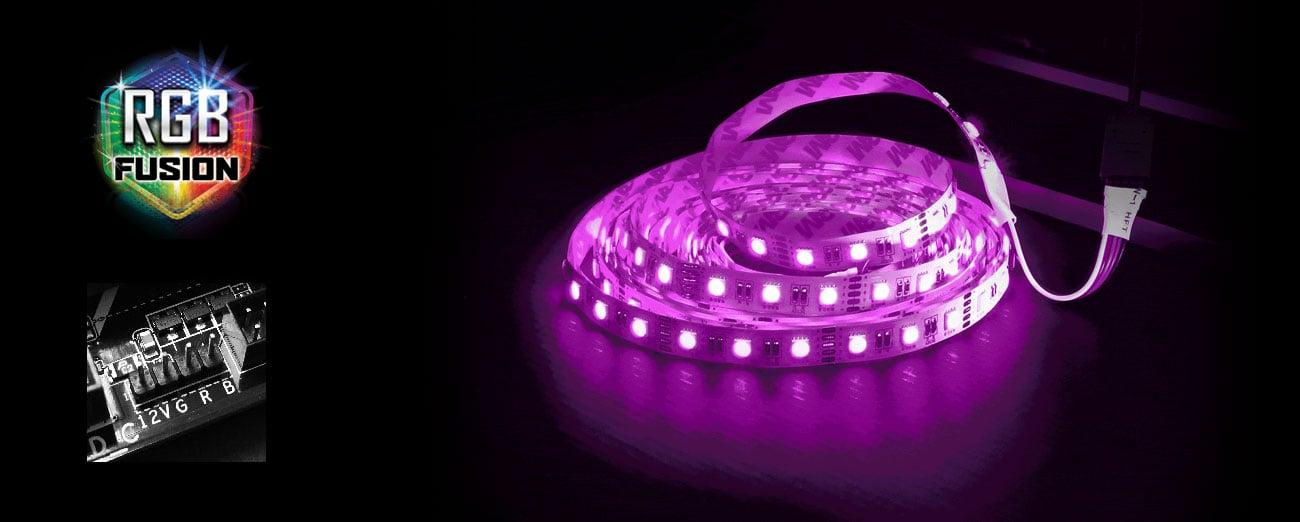 Gigabyte Z370P D3 Podświetlenie RGB Fusion
