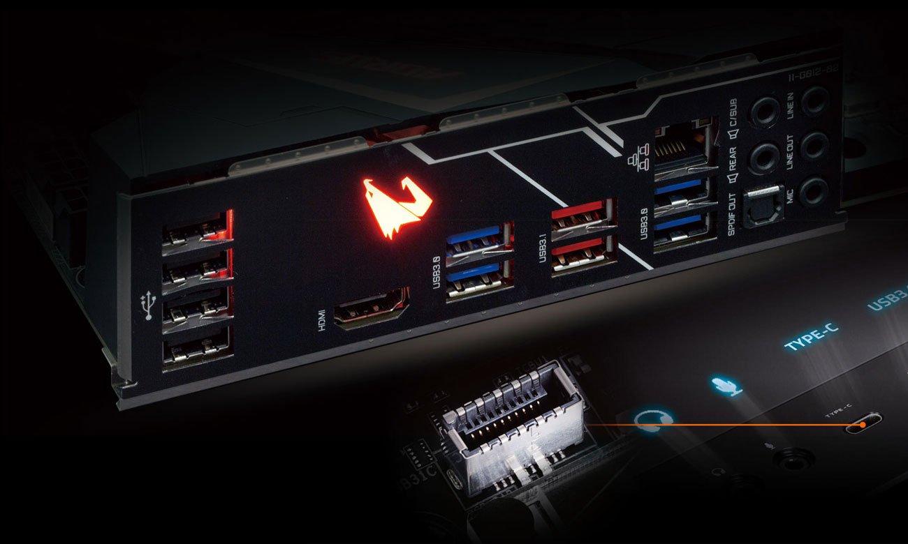 Gigabyte Z390 AORUS ELITE Złącza USB