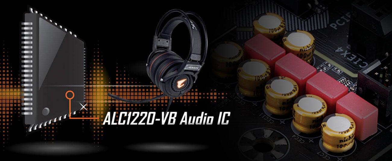 Gigabyte Z390 AORUS ELITE Układ audio