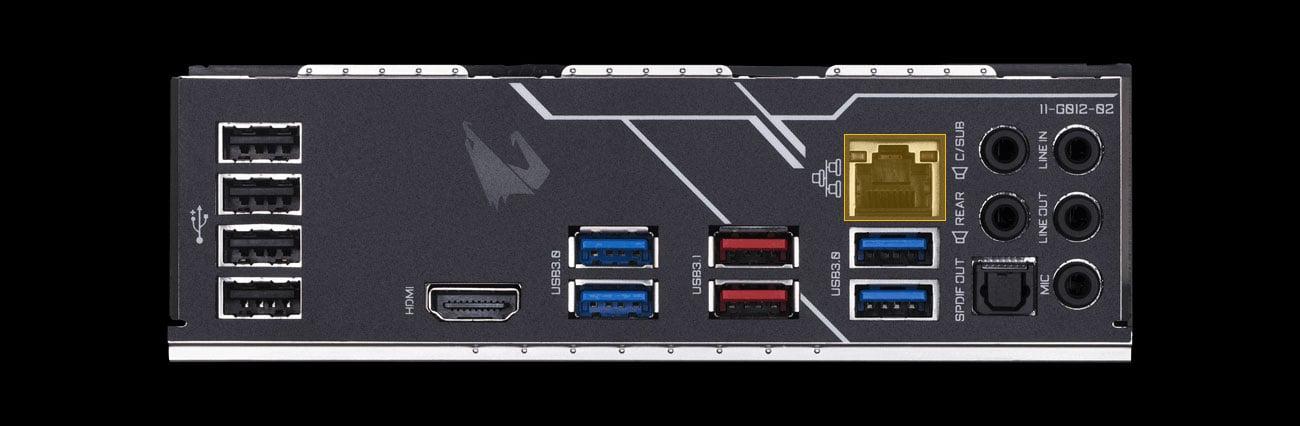 Gigabyte Z390 AORUS ELITE Złącza, port LAN